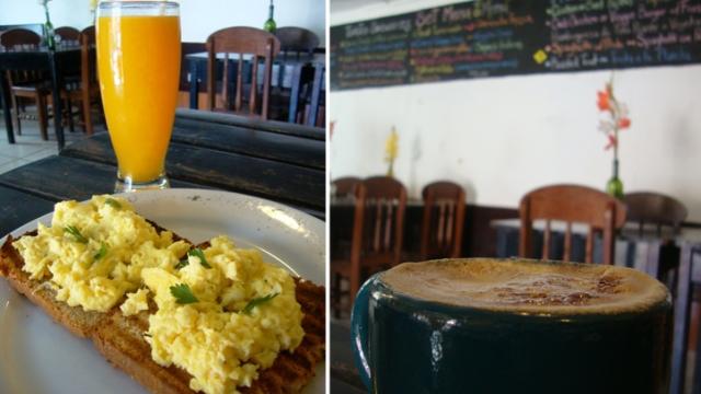 Café da manhã em Ollantaytambo