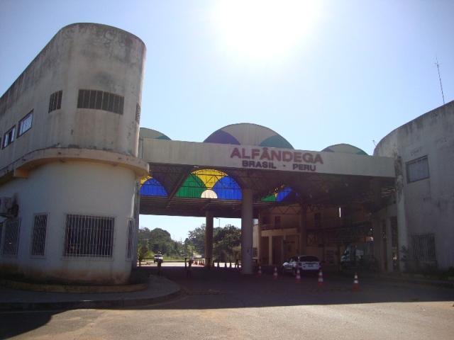 Posto da Polícia Federal na fronteira do Brasil e Peru
