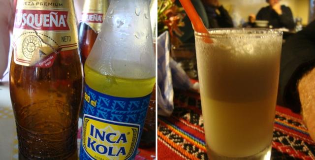 Cusqueña, Inca Kola e Pisco Sour