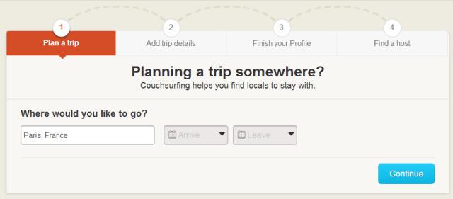 como usar o site couchsurfing