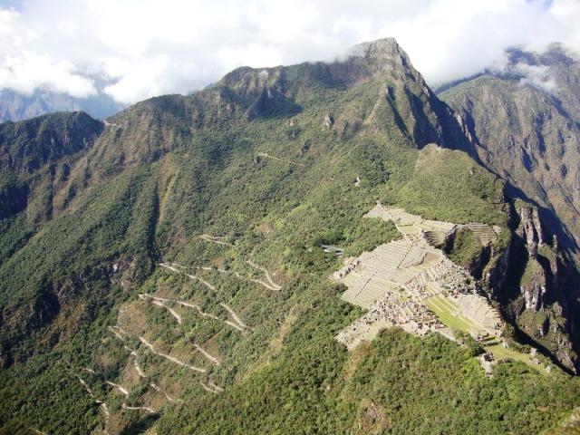 Machu Picchu vista do alto da Montanha Waynapicchu
