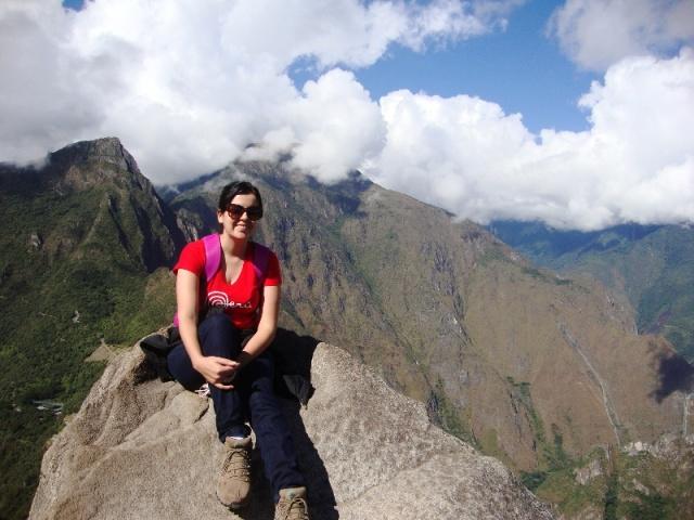 No topo da Montanha Waynapicchu