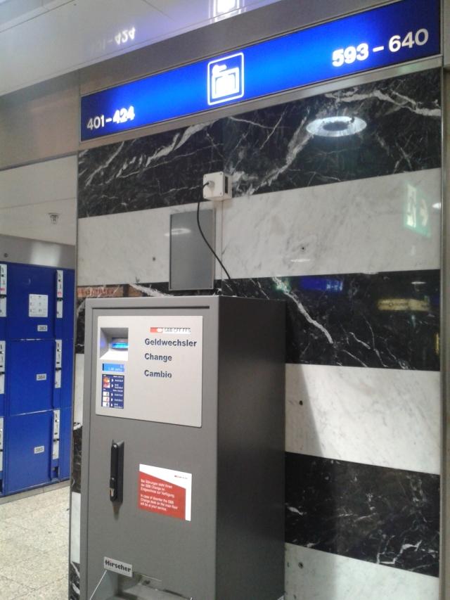 Máquina para trocar notas por moedas