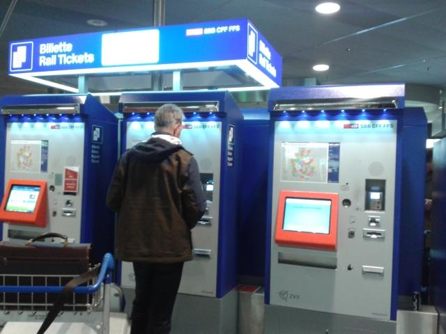 máquina bilhete trem zurique