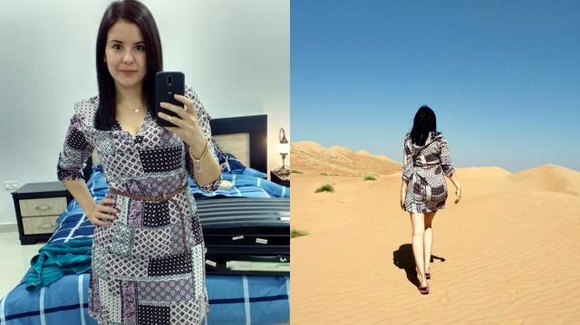 Vestido (com short por baixo) para o passeio no deserto + wadi. Uma variaçao seria usar uma legging por baixo.